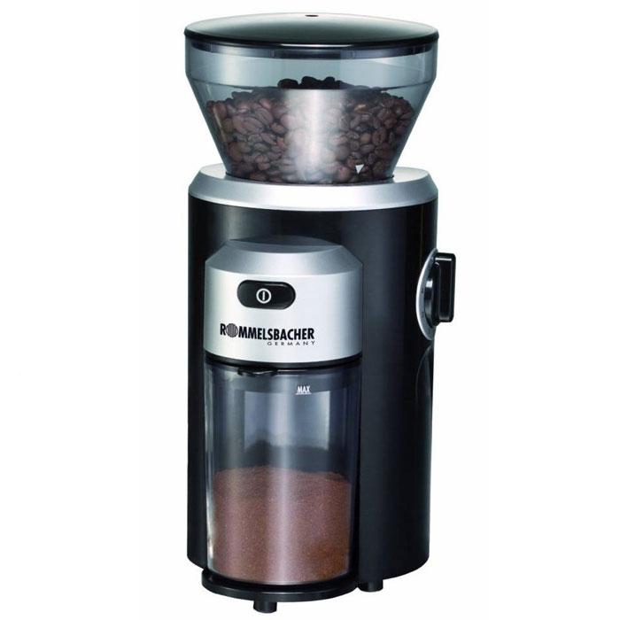 Rommelsbacher EKM 300 кофемолкаEKM 300Если для вас важна степень помола, то кофемолка Rommelsbacher EKM 300 с жерновой системой и мощностью 150 Вт - это то, что вам нужно. Она вмещает до 220 грамм зерен, чего будет вполне достаточно для нескольких чашек напитка. Очень удобна функция регулировки степени помола. С данной кофемолкой вы каждый день сможете наслаждаться крепким, вкусным и ароматным кофе.Контейнер для кофейных зерен емкостью 220 г с плотной крышкой для сохранения ароматаПрочные долговечные жернова из нержавеющей сталиРегулировка степени помола от грубого до очень тонкогоУстановка необходимого за один помол количества кофеСъёмный контейнер для молотого кофе емкостью 120 гСъёмный для лёгкой очистки блок помола