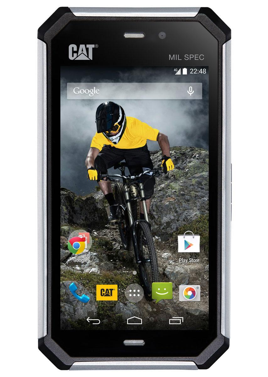 Caterpillar Cat S50, SlateCAT S50Caterpillar Cat S50 - профессиональный защищенный смартфон по стандарту IP67. Модель предназначена для любителей экстремальных видов спорта, путешественников, или людей, работающих в экстремальных температурных и природных условиях. Смартфон заключен в герметичный противоударный корпус с резиновыми бамперами на углах. Он имеет устойчивость к возникновению царапин, падениям на бетон, проникновению воды, песка, пыли и прочих вредных для электроники веществ. S50 также может работать при температурах от 25 градусов мороза до 55 градусов тепла. Экран защищен стеклом Gorilla glass версии 3 и способен поддерживать управление в мокрых перчатках.Смартфон имеет четырехъядерный процессор Qualcomm Snapdragon 400 с частотой 1,2 ГГц и 2 ГБ оперативной памяти, что более чем достаточно для выполнения повседневных задач, будь то серфинг в интернете или работа в современных приложениях. Пользователям доступна камера 8 Мпикс с автофокусом, способная производить видеосъемку в качестве HD. Для видеочатов используется фронтальная камера VGA. Питание осуществляется аккумулятором вместимостью 2600 мАч, которого хватает до 16 часов разговора в сетях 2G. Данная модель поставляется с предустановленным фирменным магазином приложений Cat Phones App Store, который содержит более 1000 специальных приложений для защищенных смартфонов.Телефон сертифицирован Ростест и имеет русифицированный интерфейс меню, а также Руководство пользователя.
