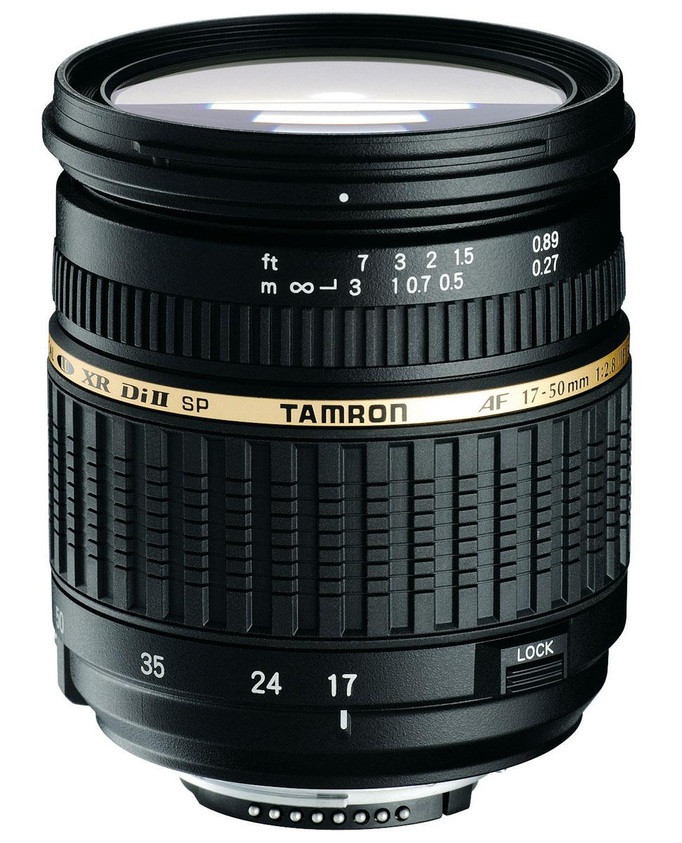 Tamron SP AF 17-50mm F/2,8 XR Di II LD CanonA16ETamron SP 17-50mm F/2,8 XR Di II LD ASL [IF] – легкий и быстрый стандартный зум-объектив, спроектированный специально для цифровых зеркальных фотокамер. Этот объектив задумывался как продолжатель традиций Tamron SP AF 28-75mm F/2.8 XR Di LD Aspherical [IF] MACRO.Важное преимущество объектива Tamron 17-50 – его диафрагма f/2.8. Это дает возможность художественного размытия заднего плана (боке), позволяя сосредоточить внимание только на объекте съемки, например, при съемке портретов. Этот объектив также обеспечивает очень хорошие возможности при съемке с близкого расстояния (среди стандартных зумов с большим относительным отверстием). Обратите внимание на то, что фотограф может использовать диафрагму f/2.8 на всем диапазоне фокусных расстояний, что встречается не так часто в объективах этого класса. Tamron 17-50 спроектирован специально для использования с цифровыми зеркальными фотокамерами (в обозначении – Di II). Это говорит о том, что при максимальном качестве оптики, присущем объективам серии Di, объективы серии Di II обладают меньшим весом и более компактны.Самое минимальное в мире фокусное расстояние (всего 27 см) было достигнуто с использованием трех XR элементов (стекла повышенным коэффициентом отражения) в передней группе в сочетании с новой механической конструкцией, но в то же время обладает меньшим весом и более компактен. Максимальный коэффициент увеличения 1:4,5 и вес 430 г также делают его мировым лидером среди объективов в том же классе с диафрагмой F/2.8. Использование трёх сложных асферических элементов, стекла LD и просветляющего покрытия BBAR гарантирует великолепное качество изображения, безукоризненную цветопередачу, а также отсутствие ореолов. В результате Вы получаете изображение превосходной четкости.Объективы серии Di II предназначены исключительно для использования с цифровыми зеркальными фотокамерами, максимальный размер сенсора которых не более 16x24 мм (APS-C). Отверстие у этих объективов, с