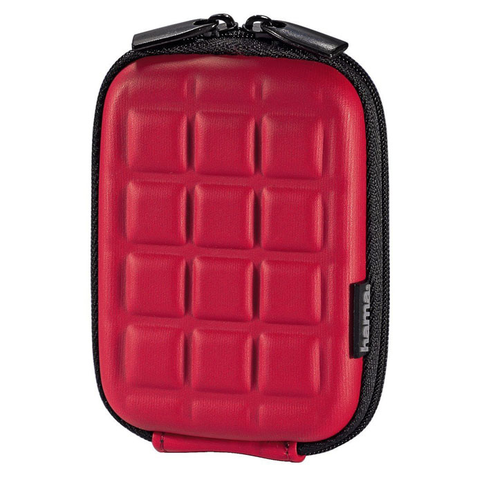 Hama Hardcase Square 40G, Red чехол для фотокамеры era pro ep 010901 black red чехол для фотокамеры