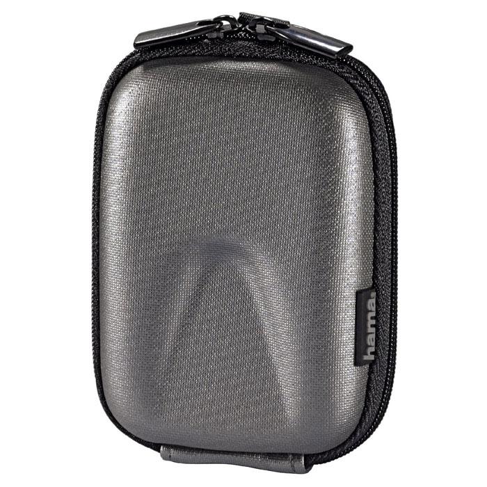 Hama Hardcase Thumb 40G, Silver чехол для фотокамеры103761Сумка Hama Hardcase Thumb 40G для цифровой фотокамеры. Имеет отделение для карт памяти и аксессуаров, ремешок для переноски. Так же оснащена петлей для ношения на поясе. Прочный материал.