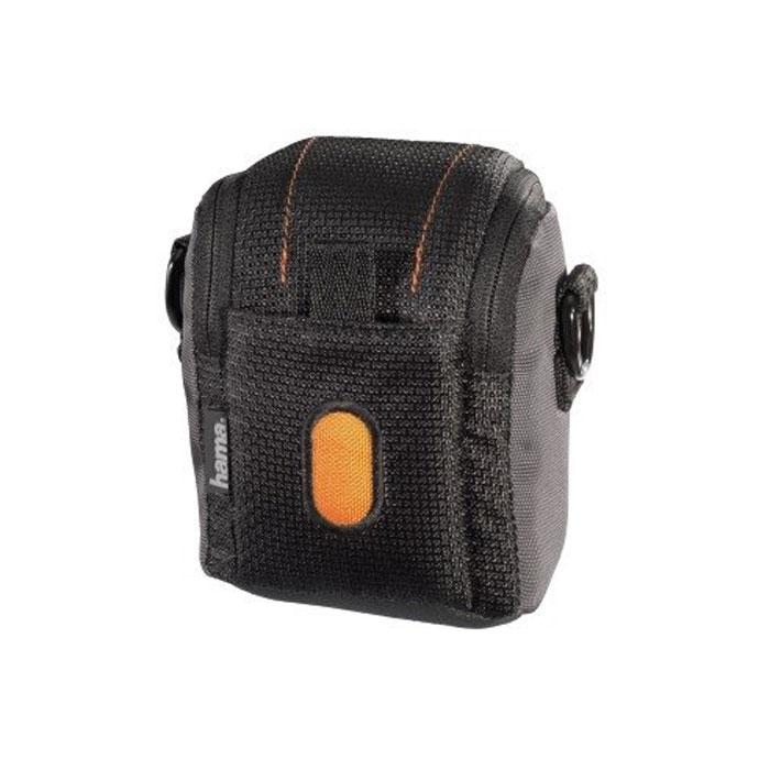 Hama Sorento 50J, Black Orange чехол для фотокамеры023109Сумка Hama Sorento 50J для цифровой фотокамеры. Имеет отделение для карт памяти и аксессуаров, ремешок для переноски. Также оснащена петлей для ношения на поясе.