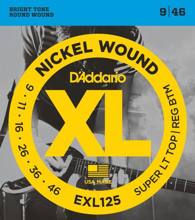 D'Addario EXL125 струны для электрогитары