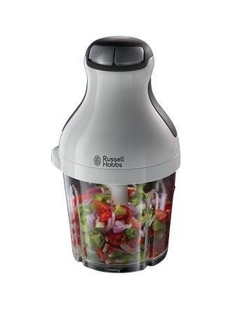 Russell Hobbs 21510-56 Aura, White блендер-измельчитель21510-56 Aura WhiteЛюбите соусы и овощные или фруктовые смеси? Просто поместите фрукты, овощи или травы в контейнер блендера-измельчителя Aura, и он в одно мгновение измельчит и смешает все ингредиенты! Инновационный 8-образный нож без острых концов позволяет блендеру добиваться эффекта и смешивания и измельчения. Лезвия также могут быть использованы для измельчения льда, для коктейлей и смузи. Нескользящее основание может быть использовано как крышка для контейнера с готовым ингредиентом. После чего вы можете хранить емкость в холодильнике или взять с собой на природу или работу.
