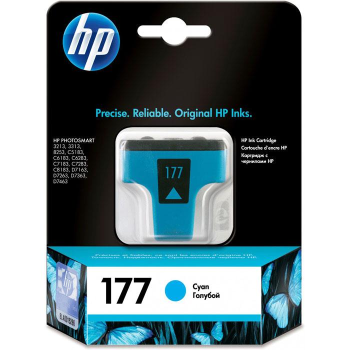 HP C8771HE (177), Cyan струйный картриджC8771HEКартридж HP 177 с чернилами Vivera для струйных принтеров HP PhotoSmart.