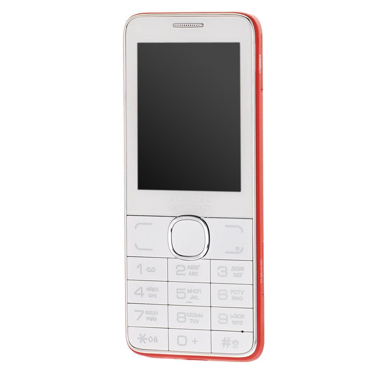 Alcatel OT-2007D Dual Sim, White Red2007D-2CALRU1-1Мобильный телефон Alcatel OT-2007D с поддержкой 2 SIM-карт. Модель имеет ЖК-экран с диагональю 2.4 и разрешением 240х320 точек. Телефон оснащен встроенным аудиоплеером и FM радиоприемником с функцией RDS.Встроенная память: 16 МБТелефон сертифицирован Ростест и имеет русифицированную клавиатуру, меню и Руководство пользователя.