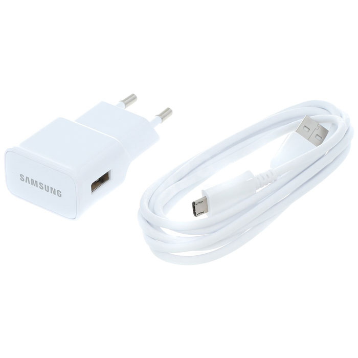 Samsung EP-TA12, White сетевое зарядное устройство microUSB 2.0