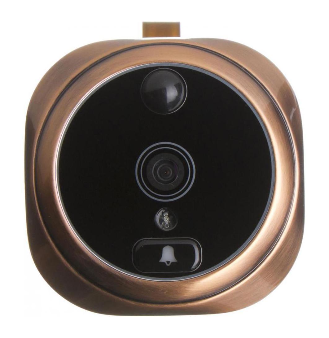 Falcon Eye FE-VE02, Bronze видеоглазокFE-VE02Видеоглазок Falcon Eye FE-VE02 состоит изцифровой камеры, совмещенной со звонком и панелис ЖК экраном, которая крепится с внутренней стороны двери. Детектор движения и ИК подсветка позволяют вести запись происходящего даже в ночное время. Это позволяет хозяину знать, кто подходил к двери, совершал звонки в дверь даже в его отсутствие.