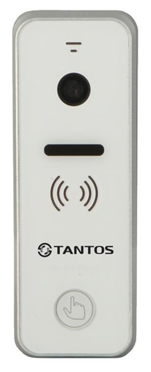 Tantos iPanel 1, White вызывная панель видеодомофона00-00016180Вызывная панель видеодомофона Tantos iPanel 1 (White) с цветным модулем видеокамеры высокого разрешения. Материал лицевой панели: Белый акрил. Разрешение матрицы 700 ТВЛ. Стандартный угол обзора 60 градусов. Рабочая температура устройства -30С...+50С. Панель имеет корпус класса защиты IP66. Уголок предусмотрен в комплекте. Совместима с наиболее распространенными марками домофонов.