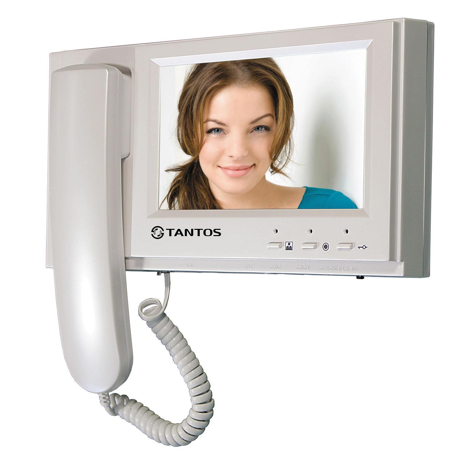 Tantos Loki монитор домофона00-00014745Классический вариант монитора 7 дюймов с трубкой и механическими кнопками. Ничего лишнего, идеальный вариант для офиса, квартиры с пожилыми людьми.