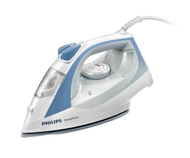 Philips GC3569/02 утюгGC3569/02Большой резервуар для водыВозможность гладить дольше без частого долива воды благодаря большому резервуару емкостью 400млСистема капля-стопЭтот паровой утюг Philips оснащен системой капля-стоп, поэтому вы сможете гладить даже деликатные ткани при низкой температуре, не беспокоясь о появлении пятен воды на одежды.Подача пара до 40 г/минПаровой утюг Philips обеспечивает постоянную подачу пара до 40 г/мин, обеспечивая оптимальное количество пара для разглаживания складокДвойная система очистки от накипиПаровой удар до 160 г