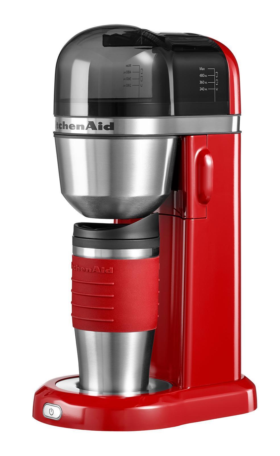 KitchenAid (5KCM0402EER), Red кофеварка5KCM0402EERКофеварка KitchenAid 5KCM0402EER предназначена для приготовления кофе из молотых зерен. Оптимальная технология варки кофе с электронной регулировкой температуры.