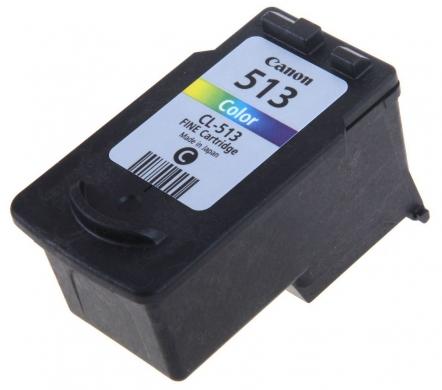 Canon CL-513CMY цветной картридж для струйных МФУ/принтеров2971B007Картриджа Canon CL-513 имеет большой ресурс, благодаря которому можно напечатать много текстовых документов и фотографий.. Картридж многоцветный, имеет три цвета, а именно – голубой, пурпурный и желтый. Картридж характеризуется высоким качеством печати и прекрасной четкостью изображения.
