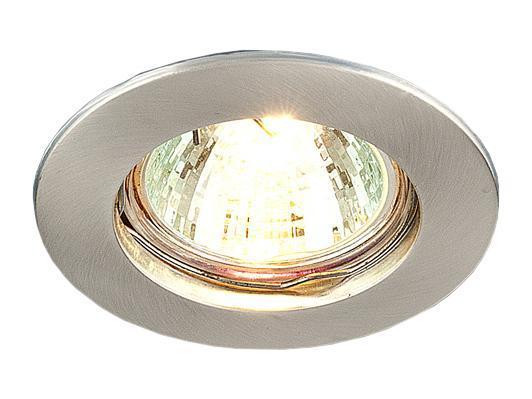 Точечный светильник Elektrostandard 863A SS (сатин. серебро)a030073Точечные светильники Elektrostandard могут использоваться в любых помещениях – спальня, кухня, ванная, в торговых и производственных помещениях. Точечные светильники подходят для натяжных, подвесных и реечных потолков. Благодаря особой технологии нанесения красителя и гальваники, светильники могут быть использованы в помещениях с повышенной влажностью, например в ванной.