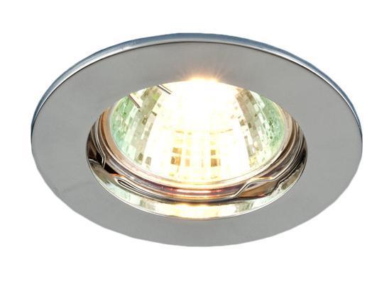 Точечный светильник Elektrostandard 863A CH (хром)a030074Точечные светильники Elektrostandard могут использоваться в любых помещениях – спальня, кухня, ванная, в торговых и производственных помещениях. Точечные светильники подходят для натяжных, подвесных и реечных потолков. Благодаря особой технологии нанесения красителя и гальваники, светильники могут быть использованы в помещениях с повышенной влажностью, например в ванной.