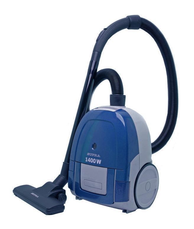 Supra VCS-1475, Blue пылесосSupra VCS-1475, BlueПылесос Supra VCS-1475 удаляет пыль и грязь с большой скоростью. Мощность всасывания 350 Вт обеспечивает высокое качество уборки. Важно отметить превосходное соотношение мощности всасывания и потребляемой мощности (1400 Вт). Длина сетевого шнура, равная 4 метрам, даёт возможность свободно перемещаться по убираемой территории. Индикатор заполнения пылесборника позволяет ориентироваться в степени наполненности мешка и своевременно заменить его.