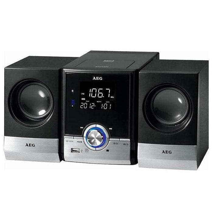 AEG MC 4461 BT, Black микросистемаMC 4461 BT schwarzAEG MC 4461 BT - микросистема с верхней загрузкой CD-дисков. Данная модель поддерживает технологию беспроводного соединения Bluetooth, с помощью которой вы можете производить синхронизацию со смартфоном или планшетом. Радиус действия - 15 м. Микросистема имеет LCD дисплей и функциональные клавиши c голубой подсветкой. Она воспроизводит все известные форматы. С помощью встроенного тюнера FM с памятью на 10 ячеек вы можете наслаждаться любимыми радиостанциями. Функция будильника и таймер сна на 90 минут будут приятным дополнением к основным возможностям устройства. Управлять всем функционалом можно при помощи пульта ДУ, который входит в комплект поставки.Форматы дисков: CD-R, CD-RWПоддержка формата MP3Вход AUX-IN для подключения аналоговых устройствПитание: от сети 220В