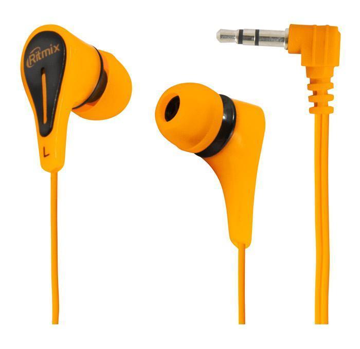 Ritmix RH-012, Orange наушникиRH-012 OrangeRitmix RH-012 – это портативные наушники-вкладыши с качественным сбалансированным звуком. Кабель стандартной длины штекером Г-образной формы