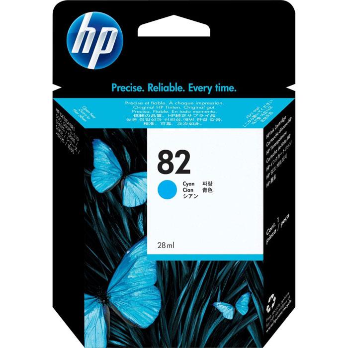 HP C4911A (82), Cyan струйный картриджC4911AКартридж HP C4911A с чернилами для печати ярких цветных документов. Печатайте текстовые документы на уровне лазерных устройств и четкие изображения, устойчивые к выцветанию в течение многих десятилетий с картриджами HP.
