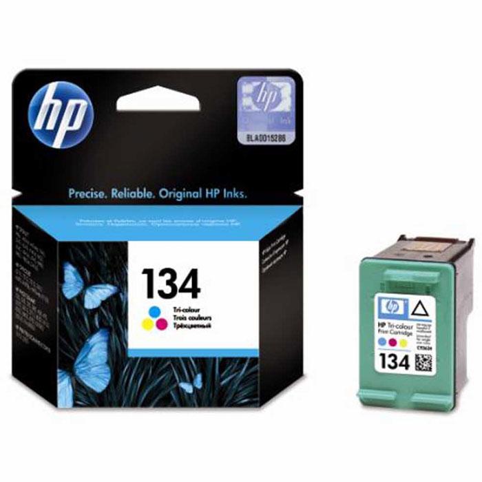 HP C9363HE (134) трехцветный струйный картриджC9363HEСтандартный картридж HP 134 с цветными (голубой, пурпурный, жёлтый) чернилами Vivera для принтеров HP.