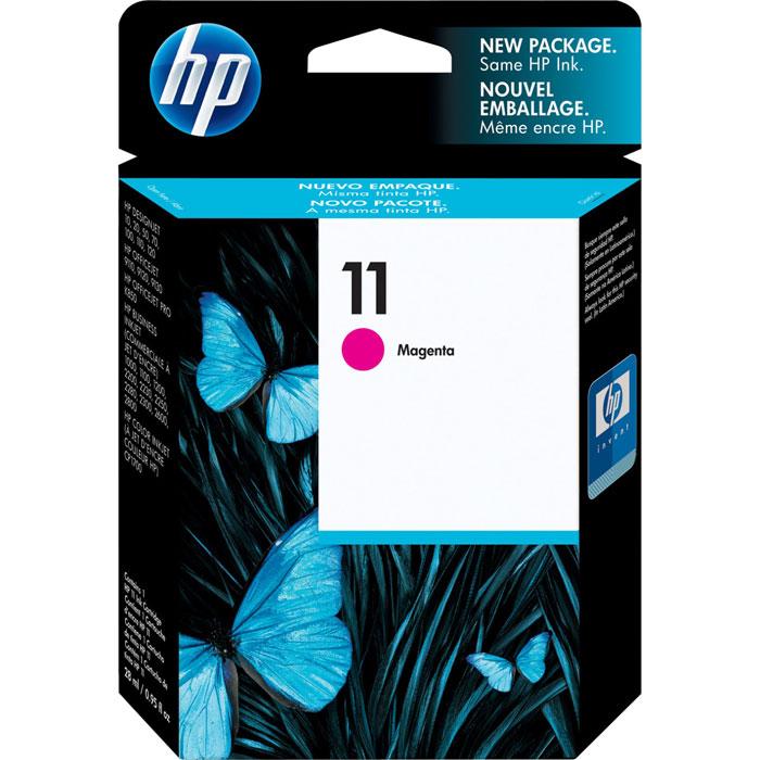 HP C4837AE (11), Magenta струйный картриджC4837AСерия HP 11 – это раздельные одноцветные картриджи со встроенными интеллектуальными датчиками. Эти