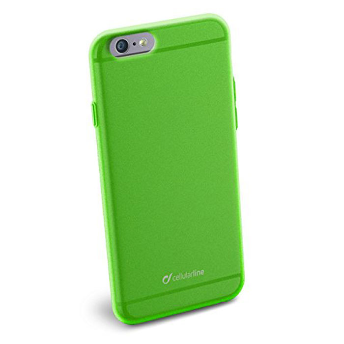 Cellular Line Color Slim чехол для iPhone 6, GreenCOLORSLIPH647GCellular Line Color Slim - мягкий и качественный полупрозрачный чехол для вашего смартфона в различных цветовых вариациях. Все разъемы и элементы управления устройством легко доступны.
