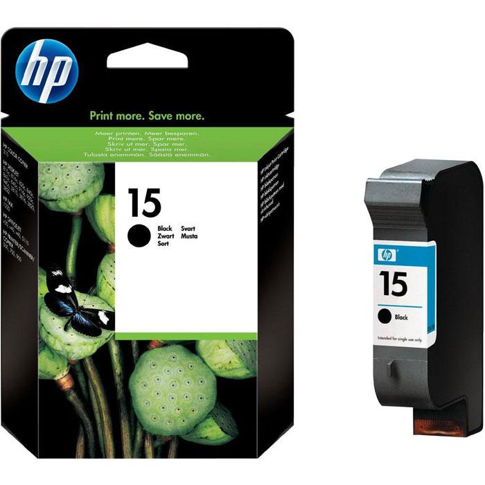 HP C6615DE (15), Black струйный картриджC6615DEКартридж HP 15 с черными чернилами для струйных принтеров.