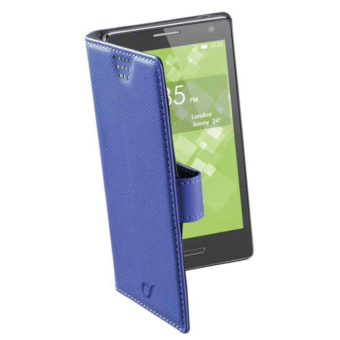 Cellular Line Book Universal 3XL универсальный чехол для телефонов, Blue (21457)BOOKUNI3LBЧехол Cellular Line Book Universal 3XL предназначен для защиты корпуса смартфона от механических повреждений и царапин в процессе эксплуатации. Благодаря клейкой силиконовой основе, которая не оставляет следов на корпусе устройств, чехол подходит для различных моделей телефонов. Встроенная поворотная система позволяет делать фотоснимки и снимать видео одним простым движением. Чехол доступен в четырех цветовых оттенках.Совместимость с телефонами:Alcatel One Touch Pop C7 7041DBlackberry Z30HTC Butterlfy SHuawei Ascend G700Lenovo Vibe X S960LG G2Nokia Lumia 1020, Lumia 920Samsung Galaxy Grand 2 G7105, Galaxy Grand Neo I9060, Galaxy S3 I9300, Galaxy S3 Neo I9301I, Galaxy S4 Active I9295, Galaxy S4 Black Edition, Galaxy S4 I9500, Galaxy S5 G900Sony Xperia M2, Xperia Z, Xperia Z1 C6903
