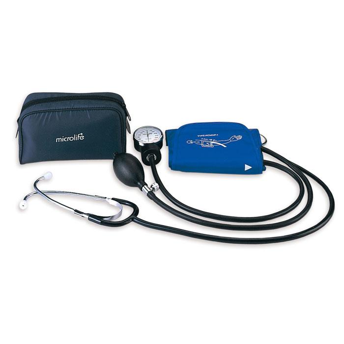 Тонометр механический со встроенным стетоскопом Microlife BP AG1-3019122032Microlife BP A130 – механический тонометр со встроенным стетоскопом. Microlife – один из мировых лидеров по производству медицинского оборудования как для самостоятельного применения, так и для профессионального диагностического использования. Все медицинское оборудование проходит тщательные исследования, что гарантирует максимальную безопасность его использования. Благодаря встроенному стетоскопу измерить давление очень просто, поэтому тонометры Microlife BP AG1 30 отлично зарекомендовали себя и весьма популярны. В комплект Microlife BP A130 входит манжета с металлическим кольцом, размер которой регулируется от 22 до 32 см, нагнетатель воздуха с игольчатым клапаном, позволяющий плавно выпускать воздух из манжеты, и сумка для хранения. Простой в использовании Microlife BP AG1 30 позволяет быстро и профессионально измерить давление в домашних условиях.