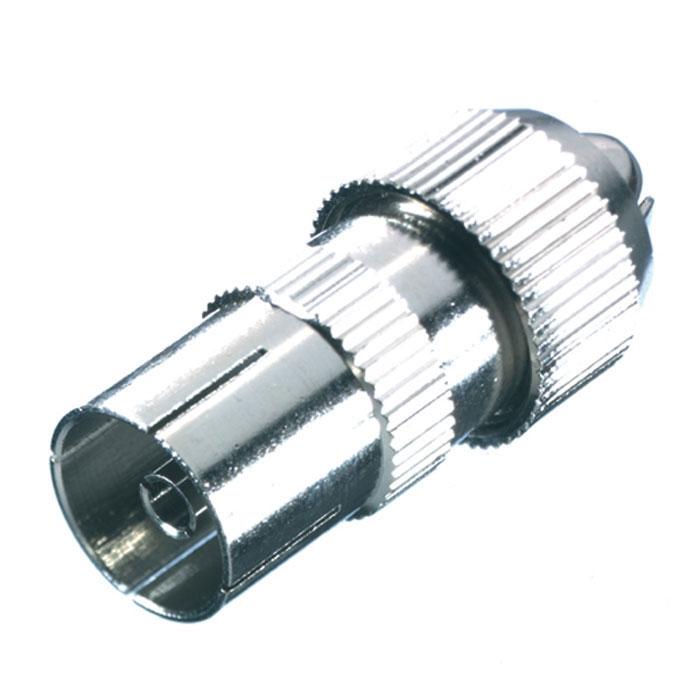 Vivanco антенный штекер коаксиальный (гнездо), металл43012Полностью металлический антенный штекер Vivanco подходит для коаксиальных кабелей с диаметром от 4.5 до 7.5 мм.