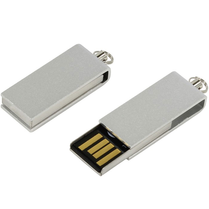 Iconik Свивел 8GB, Silver USB-накопитель (под логотип)