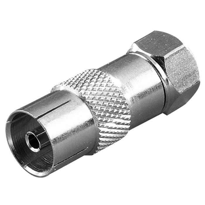 Vivanco STD FKB-N адаптер F (штекер)/антенный разъем44014Адаптер Vivanco предназначен для адаптации связи между коаксиальным коннектором и F-гнездом.