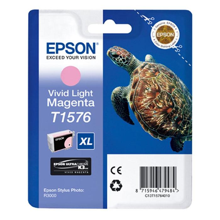 Epson T1576 XL (C13T15764010), Vivid Light Magenta картридж для Stylus Photo R3000C13T15764010Картридж с чернилами Epson T157 XLдля струйных принтеров.