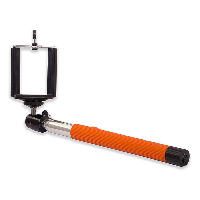 Rekam SelfiPod S-550R, Orange беспроводной монопод для селфиS-550RRekam SelfiPod S-550 - простое, и невероятно удобное устройство для создания фотографий в жанре селфи. Конструктивно новый гаджет представляет собой телескопическую «ручку-указку», но с более прочной конструкцией, способной выдержать как смартфон, так и фотокамеру весом до 500 грамм. При помощи селфипода вы сможете не только запечатлеть себя в разнообразных ситуациях, но и создать по-настоящему оригинальные кадры.SelfiPod S-550 от Rekam подходит для смартфонов, работающих на базе Android и iOS.Длинна селфипода в сложенном составляет всего 23,5 см. 7 стальных секций позволяют удлинить селфипод на 100,5 см. Прочная конструкция надежно фиксирует камеру и дает возможность использовать SelfiPod S-550 в экстремальных условиях съемки.Rekam SelfiPod S-550 оборудован универсальной 3D «головой» со стандартным винтовым креплением для фото- и видео камер. 3D-вращение обеспечивает полную свободу в выборе удобного угла и направления съемки.Для крепления смартфона использует традиционный кронштейн, поддерживающий устройства, с экраном до 6. Резиновые вставки в сочетании с жесткой пружиной, гарантируют прочное крепление смартфона и отсутствие царапин.Ручка SelfiPod S-550 оснащена встроенной Bluetooth-кнопкой, благодаря чему его очень удобно использовать в экстремальных условиях. В основании ручки расположены кнопка включения и порт micro USB, используемый для зарядки встроенного аккумулятора. Процесс подключения не отличается от любых других устройств. Достаточно выбрать устройство SelfiPod и можно снимать.