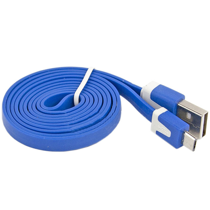 Liberty Project Micro-USB дата-кабель плоский узкий, BlueSM000116Кабель Liberty Project Micro-USB предназначен для передачи данных с вашего устройства на персональный компьютер, а также зарядки от источников питания с USB выходом. Длина кабеля: 1 метр.