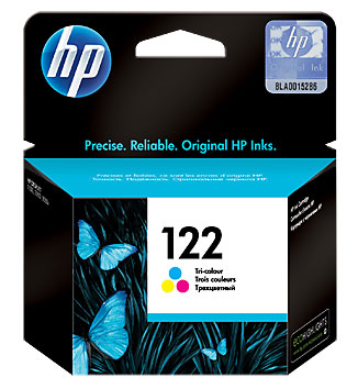 HP CH562HE (122), Tri-Color картридж для струйных принтеровCH562HEКартридж струйный HP 122 с цветными чернилами для печати ярких цветных документов. Печатайте текстовые документы на уровне лазерных устройств и четкие изображения, устойчивые к выцветанию в течение многих десятилетий с картриджами HP.
