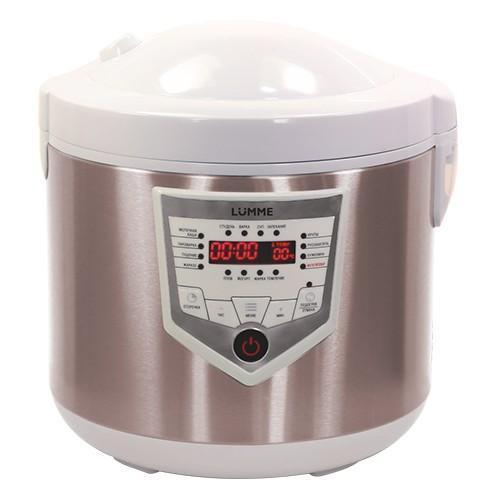 Lumme LU-1446 Chef Pro, White Champagne мультиваркаLU-1446 White-Champagne46 программ приготовления (16 автоматических программ и 30 ручных настроек) позволяют приготовить множество новых блюд! Помимо стандартного для большинства мультиварок набора блюд теперь вы можете готовить йогурты, жаркое, студень, заливное, буженину, томить мясо как в русской печи, варить варенье или морс. Для каждой из 16 автоматических программ подобраны оптимальные значения времени и температуры приготовления, загружаемые по умолчанию при запуске программы.