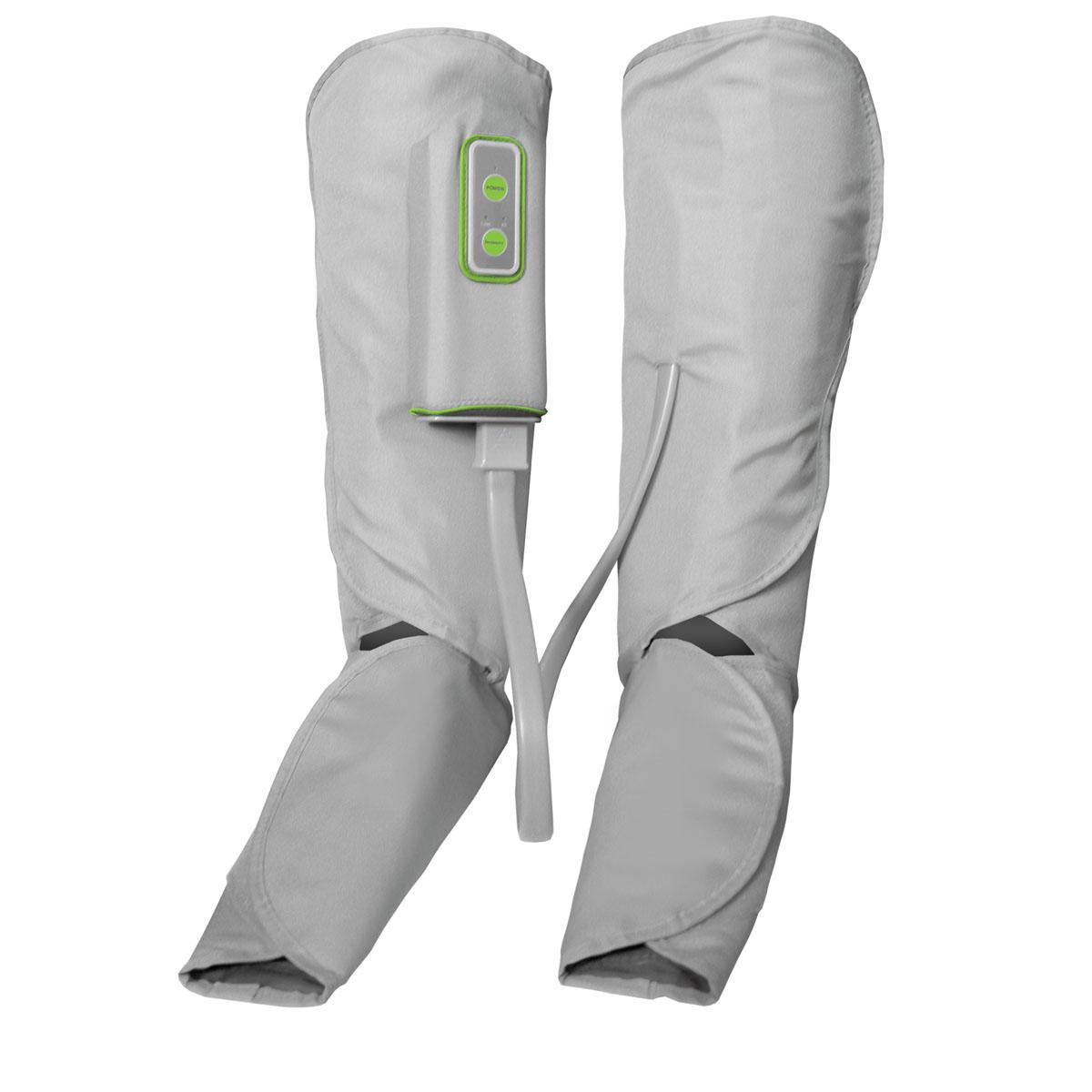 Gezatone Аппарат для прессотерапии и лимфодренажа ног Light Feet AMG7091301145Gezatone AMG709 - компрессионный массажер для ног. Благодаря функции прессотерапии стоп и икр массажер улучшает местную циркуляцию крови, снимает спазм мышц, обладает выраженным лимфодренажным эффектом, позволяя быстро снять отеки и устранить неприятные ощущения.Прессотерапия – это давно зарекомендовавшая себя методика воздействия на мягкие ткани путем изменения давления. Компрессия, создаваемая прибором, мягко , но эффективно, стимулирует деятельность кровеносных и лимфатических сосудов, улучшает обменные процессы, нормализует тонус мышечных волокон. Благодаря портативному прибору для прессмассажа ног Light Feet Вам больше не придется оставлять значительные суммы в салонах – ведь теперь Вы можете сами использовать этот эффективный и действенный метод воздействия у себя дома.Использование массажера для ног освобождает ткани от токсинов и шлаков, восстанавливает водно-солевой баланс, что препятствует образованию отеков. Нагнетание давления от периферии к центру усиливает ток крови, улучшает работу сосудов. Ежедневное применение всего по 10-15 минут помогает быстро восстановиться, избавиться от дискомфорта в ногах, улучшить самочувствие.Прибор подходит как мужчинам, так и женщинам, он очень прост и удобен в применении.