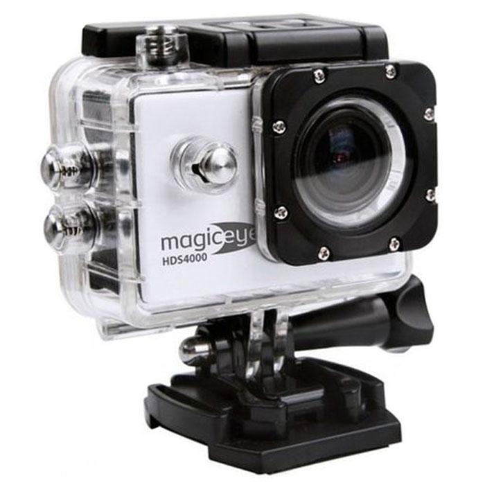 Gmini MagicEye HDS4000, Silver экшн-камераАК-10000002Портативная экшн-камера Gmini MagicEye HDS4000. Разрешение видео-файла FullHD 1080p:Видео-файлы могут быть просмотрены практически любым видеоплеером. Имеется режим HDR для лучшей проработки изображения в тенях.Циклическая запись:Установка длительности записываемого фрагмента и перезапись старых файлов при переполнении памяти. Это позволит вам быть уверенным, что все последние события будут сохранены.Звук:Встроенные динамик и микрофон. Позволит вам записать, а затем прослушать звук на видеозаписи.Объектив:Широкоугольный объектив с углом обзора 170 градусов. Позволит записать в память практически всё, что видит пользователь камеры во время съемки.Автостарт:Автоматическое включение/выключение и старт записи при подаче/отключении питания. Позволяет использовать экшн-камеру в качестве видеорегистратора в автомобиле.Wi-Fi:Удаленной управление по WiFi съемкой с данной камеры, с помощью смартфона или планшетного компьютера на операционной системе iOS или Android.Экран:1.5 LCD дисплей для просмотра записанных фрагментов и настроек. Избавит от необходимости иметь дополнительное устройство для просмотра видео. Поможет при настройке положения вашей экшн-камеры.Питание:Сменный аккумулятор емкостью 900 мАч, позволяющий вести до 70 минут непрерывной записи. Второй дополнительный аккумулятор в комплекте.Процессор/сенсор: Siri A9, Aptina AR0330