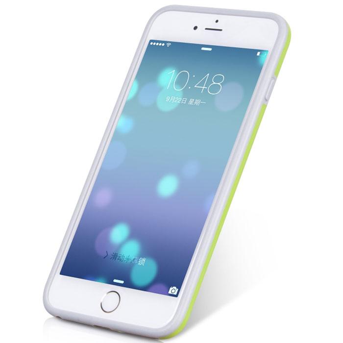 Hoco Coupe Series Double Color чехол-бампер для iPhone 6 Plus, GreenR0007623Чехол-бампер Hoco Coupe Series Double Color для iPhone 6 Plus гарантирует надежную защиту корпуса вашего смартфона от внешнего воздействия. Чехол изготовлен из качественного термопластика (TPU) и поликарбоната (PC) и имеет необходимые отверстия для разъемов и кнопок.