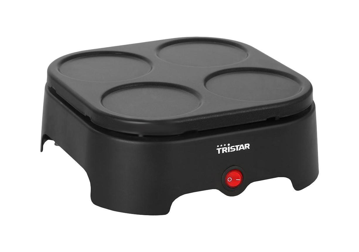 Tristar BP-2988 гриль + набор сковородок, 4 штBP-2988Набор из 4 цветных вок-сковородок, 4 лопаток и ложки. Без сковородок плитка может использоваться для приготовления блинчиков.Неизменная гарантия вкусного блюда!4 цветных скоровородки-вок4 встроенные блинницы диаметром 8,5 смКнопка ВКЛ/ВЫКЛ со световым индикаторомПодходит для 4 персонРабочая поверхность 21х21 смАнтипригарное покрытиеНескользящие ножки4 лопатки1 ложкаМощность 400 Вт
