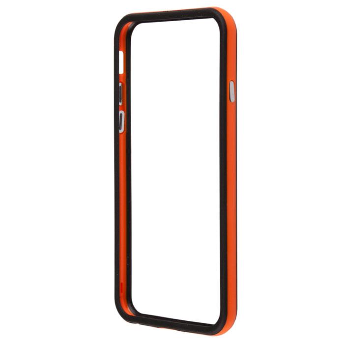 Liberty Project Bumpers чехол-накладка для iPhone 6, Orange BlackR0006711Чехол-накладка Liberty Project Bumpers для iPhone 6 защитит ваш гаджет от механических повреждений. Чехол имеет свободный доступ ко всем разъемам и клавишам устройства.