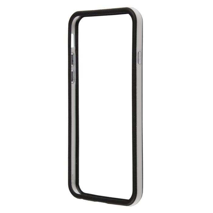 Liberty Project Bumpers чехол-накладка для iPhone 6, White BlackR0006709Чехол-накладка Liberty Project Bumpers для iPhone 6 защитит ваш гаджет от механических повреждений. Чехол имеет свободный доступ ко всем разъемам и клавишам устройства.