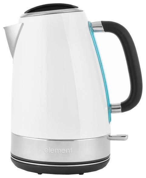 Element ElKettle WF05MWG, White электрический чайникWF05MWGОсобая отделка корпуса создает неповторимый характер данной модели. Другая сторона дизайна этого чайника – его функциональность. Фирменное покрытие CLEAN TOUCH защищает поверхность от следов и отпечатков пальцев. А кипячение сопровождается мягкой белой подсветкой. Бескомпромиссная надежность и долговечность обеспечивается прочным корпусом из нержавеющей стали и комплектующими от проверенных производителей. Удобство использования чайника достигается совокупностью продуманных деталей: подставка-основание с центральным расположением контактной группы OTTER (вращение 360°), остроугольный носик, фильтр от накипи из нержавеющей стали, окошко для визуального контроля уровня воды, прорезиненная поверхность рукоятки. Легкий и беззаботный глянец обладает серьезным потенциалом, чтобы надолго закрепиться на вершине вашего кухонного хит-парада!