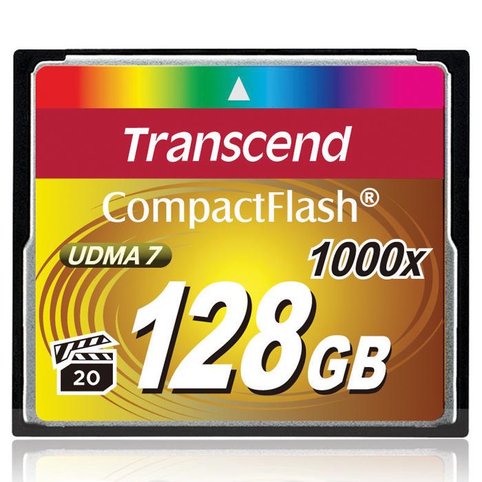 Transcend Compact Flash 1000X 128GBTS128GCF1000Карты памяти 1066x CompactFlash компании Transcend поддерживают спецификацию CompactFlash 6.0, что позволит получать высококачественные снимки и вести запись видео с использованием самого современного оборудования. Новые карты обладают невероятным быстродействием и большим объёмом памяти. Кроме того, CompactFlash поддерживает стандарт Video Performance Guarantee (VPG-20), который гарантирует запись видео в профессиональном качестве, в том числе и в 3D, без выпадения кадров.