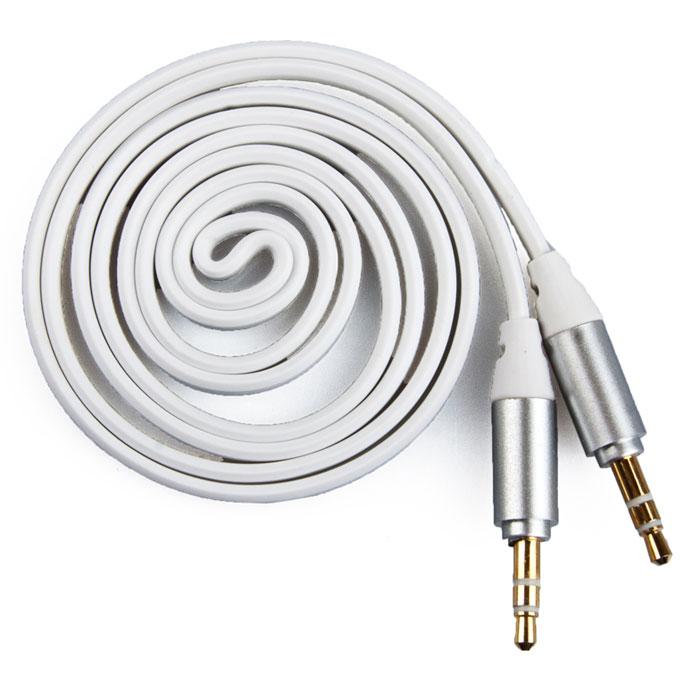 Liberty Project аудиокабель плоский, White (1 м)SM001728Кабель Liberty Projectпредназначен для передачи звука между устройствами с разъемами 3.5 мм.