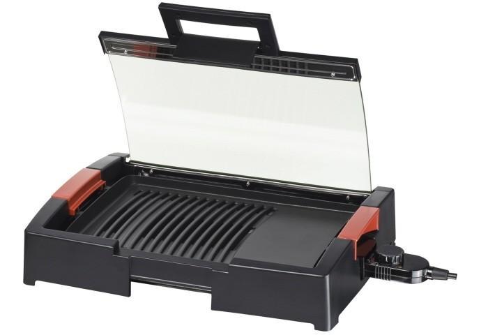 Steba VG 120 электрогрильVG 120Компактный настольный гриль-барбекю VG 120 от немецкого производителя Steba - электрогриль с небольшой рабочей поверхностью пригодится для запекания мяса, рыбы и овощей на даче или загородном участке. Специальная крышка придает продуктам во время жарки нежность, сохраняются их все полезные свойства, форма и вкус, они не пересыхают, образуется аппетитная корочка. Мощные нагревательные элементы позволяют в считанные минуты приготовить изысканные блюда для вас и вашей семьи. Литая пластина гриля с рифленой поверхностью незаменима при запекании мяса или рыбы и ровной поверхностью - морепродуктов или овощей. Вы сможете готовить не только вкусно, но и полезно с функцией снижения количества жира - предусмотрен специальный поддон для стекания жировых излишек. Плавная регулировка температуры встроенным бесступенчатым термостатом для точной настройки нужного режима запекания. Порадует хозяек и несложная очистка благодаря съемной конструкции гриля и поддона