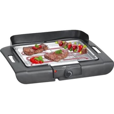 Clatronic BQ 3507, Black гриль/барбекюBQ 3507 schwarzБлагодаря электрогрилю Clatronic BQ 3507 вы сможете приготовить стейки из мяса, поджарить рыбу или овощи, а так же побаловать семью вкусными горячими сэндвичами на завтрак. Рифленая поверхность прибора обеспечивает хорошую прожарку продуктов. Тот жир, который образуется при жарке мяса и рыбы стекает по специальным стокам в металлический поддон. Эргономичные теплоизолированные ручки надежно предохраняет руки от ожогов. Данная модель обладает съемными нагревательными элементами и решеткой для облегчения их чистки.Особые меры предосторожности: Во время работы температура доступных поверхностей может быть очень высокой. Устройство можно брать только за ручки или термо-стат.Следите за тем, чтобы сетевой кабель не касался горячих частей электроприбора. Соблюдайте достаточное расстояние (30 см) до легко воспламеняющихся предметов, таких как мебель, шторы и т.п. До стены должно оставаться расстояние не менее 15 см.Не используйте в данном устройстве древесный уголь или подобные горючие вещества. Устройство может использоваться вне помещения только в абсолютно сухих погодных условиях. Никогда не оставляйте устройство снаружи полсе использования. Это устройство должно работать с защитным устройством, управляемым остаточным током (FI/RCD), с максимальным током размыкания 30 мА.Кабель питания необходимо регулярно осматривать на повреждения. Если кабель поврежден, то устройством больше пользоваться нельзя.Устройство должно включаться в заземленную розетку.