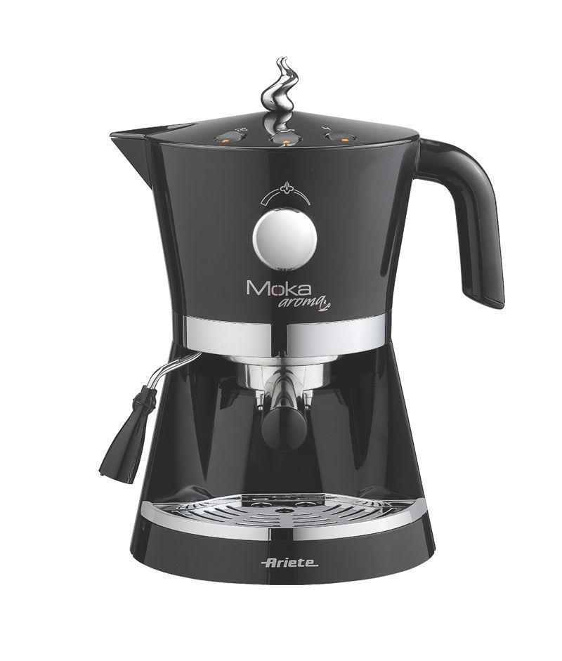 Ariete Moka Espresso Aroma кофеварка (1337/10)1337/10Весь аромат хорошего кофе и вкус итальянского дизайна заключены в эспрессо кофеварке Aroma Espresso Moka. Mocha Арома идеально подходит для любителей эспрессо и капуччино. Удобный в использовании и чистке, это идеальная машина для каждого типа кухни.