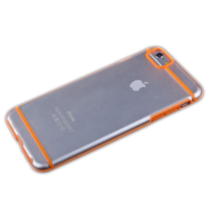 Liberty Project защитная крышка для iPhone 6 Plus, Orange Striped ClearR0006707Защитная крышка Liberty Project для iPhone 6 Plus защитит ваш гаджет от механических повреждений. Чехол имеет свободный доступ ко всем разъемам и клавишам устройства.